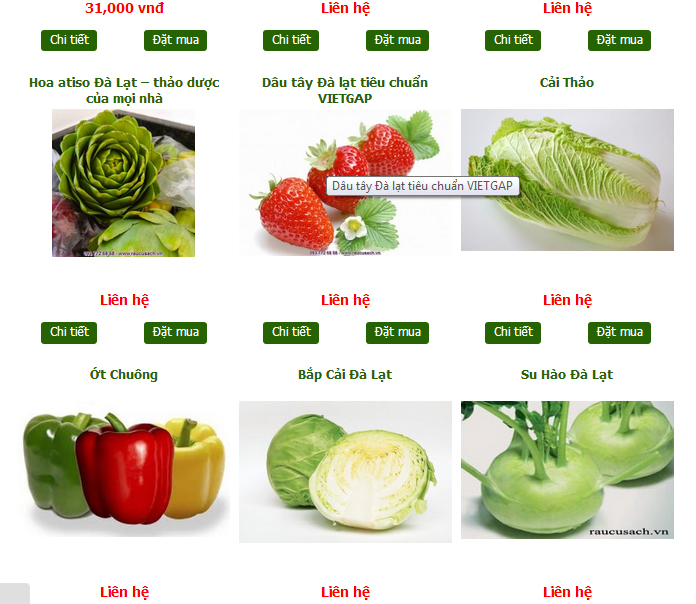 quy trình chọn rau củ quả sạch Nhân Việt